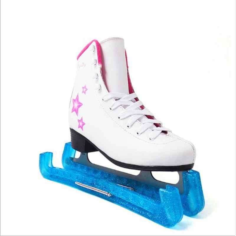 2x Soft Plastic Ice Hockey Figure Skate Blade Guard Cover Protector Black