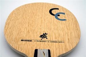 Image 2 - SANWEI CC karbon (5 + 2 karbon, ücretsiz çanta ve kenar bandı) SANWEI masa tenisi Blade/raket orijinal SANWEI Ping Pong yarasa/kürek
