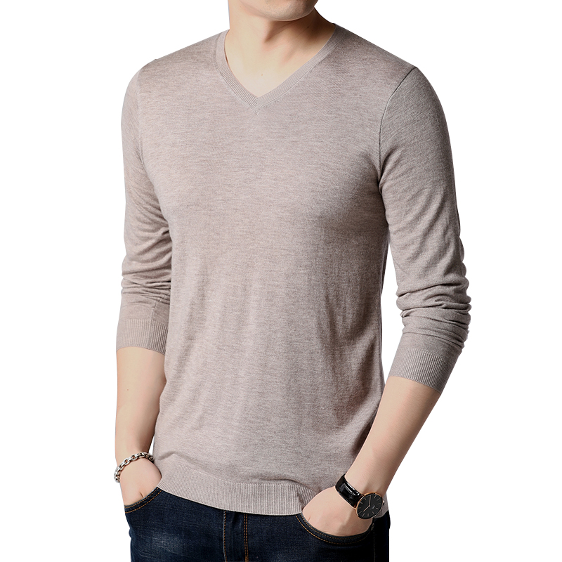 FAVOCENT Sweater Men Shirt Clothing V-Neck Male Casual New Solid Self-Cultivation Multi-Color
