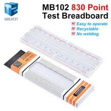 GREATZT Макет 830 Точка печатной платы MB-102 MB102 тестирование Разработка DIY kit nodemcu raspberri pi 2 ЖК-дисплей с высокой частоты