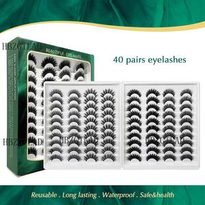 Image 1 - 40 çift 15 25mm doğal yanlış eyelashes takma kirpik uzun makyaj 3d vizon kirpik takma kirpik vizon kirpik güzellik için