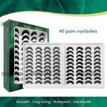 40 pairs 15 25mm natürliche falsche wimpern gefälschte wimpern lange make up 3d nerz wimpern wimpern verlängerung nerz wimpern für schönheit