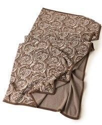 High end 100% geit kasjmier gebreide dubbele gezicht kleur exquise jacquard super grote dikke sjaal deken pashmina 184x200cm 1.5kg