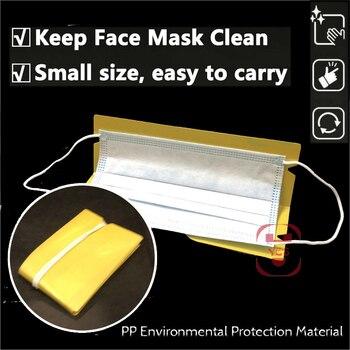 1/5/10/20  Pcs Portable Foldable Masks Storage Clip Disposable Face Masks Organizer Container Case Reusable Mask Keeper 8 Colors