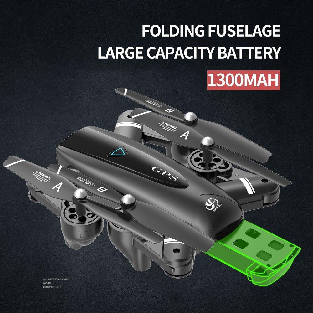 Drone 4k HD caméra GPS Drone 5G WiFi FPV 1080P pas de retour de Signal RC hélicoptère vol 20 Minutes quadrirotor Drone avec caméra - 5