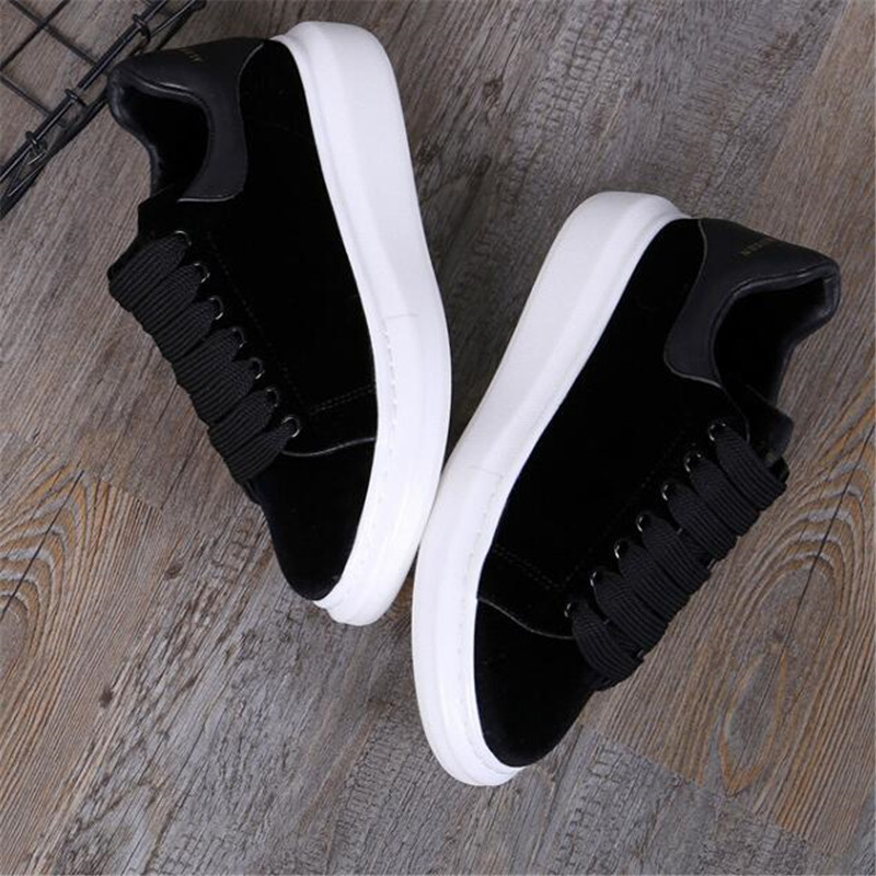 round head flat platform women's shoes black lace casual shoes celebrity comfort shoes wine red 35 44 - 3