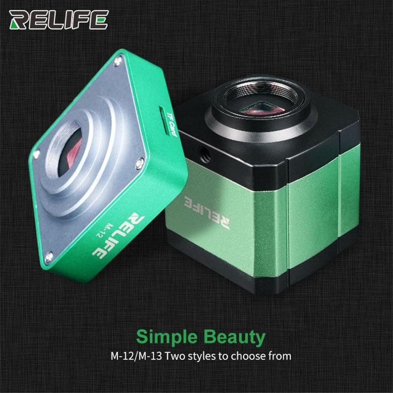 Aluminum Alloy 38 Million Pixels HDMI Trinocular Microscope Camera For Phone PCB CPU Micro Repair RELIFE M-12 M-13