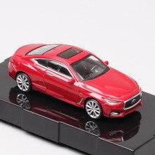 1/64 весы Paudi cute classics Infiniti Q60 Спортивная роскошная модель купе автомобиль Литые и игрушечные автомобили металлические реплики коллекции