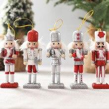 5 uds., decoración del hogar, muñeco de Cascanueces de madera, figuras en miniatura, títeres Vintage artesanales, adornos de Navidad para año nuevo