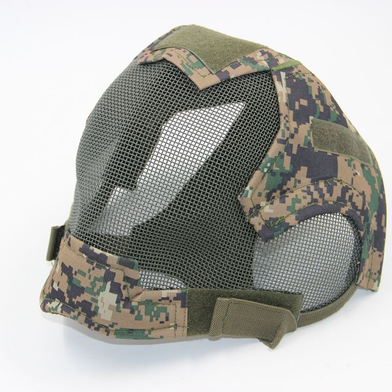 Steel Net Mesh Paintball Mask Full Face Fencing Maske Military Tactical Airsoft Protection Gear