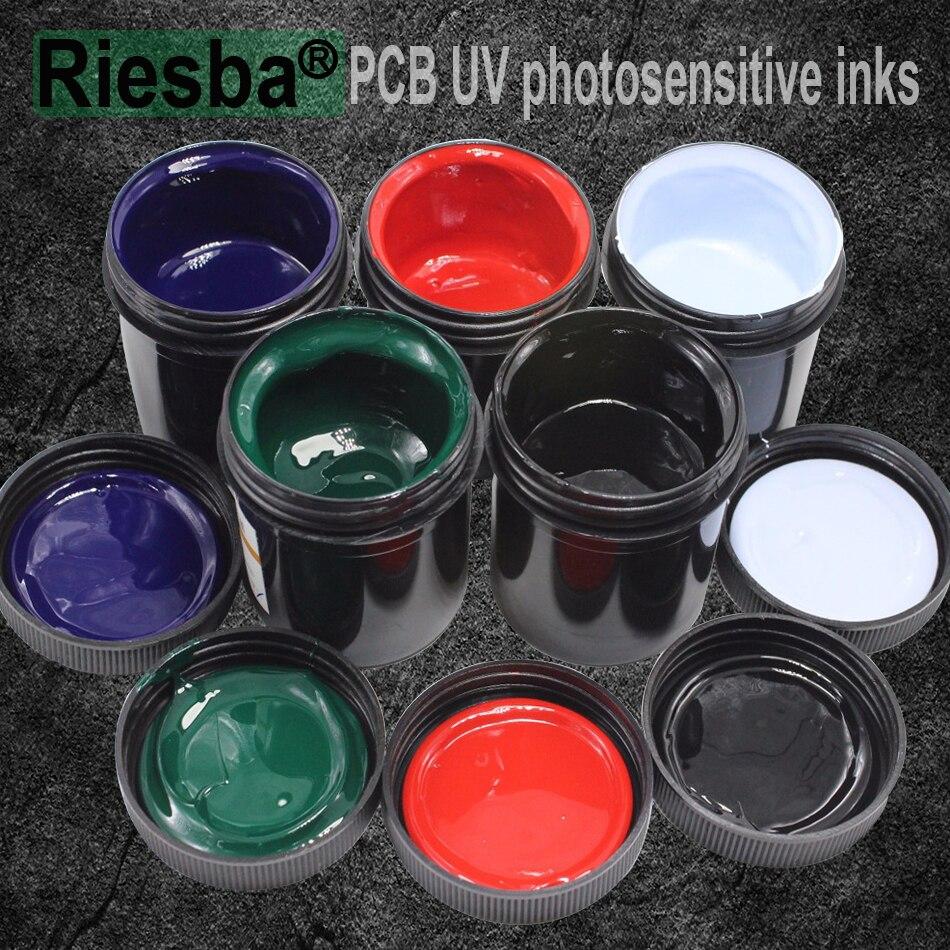 5Pcs Black PCB UV curable solder resist inksolder mask UV ink