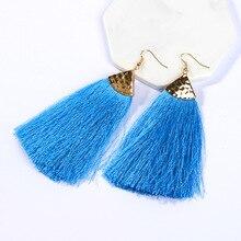 Bohemian  Long Tassel Drop dangle earrings For Women Girls Party Vintage Ethnic Multicolor Earring Jewelry Gifts