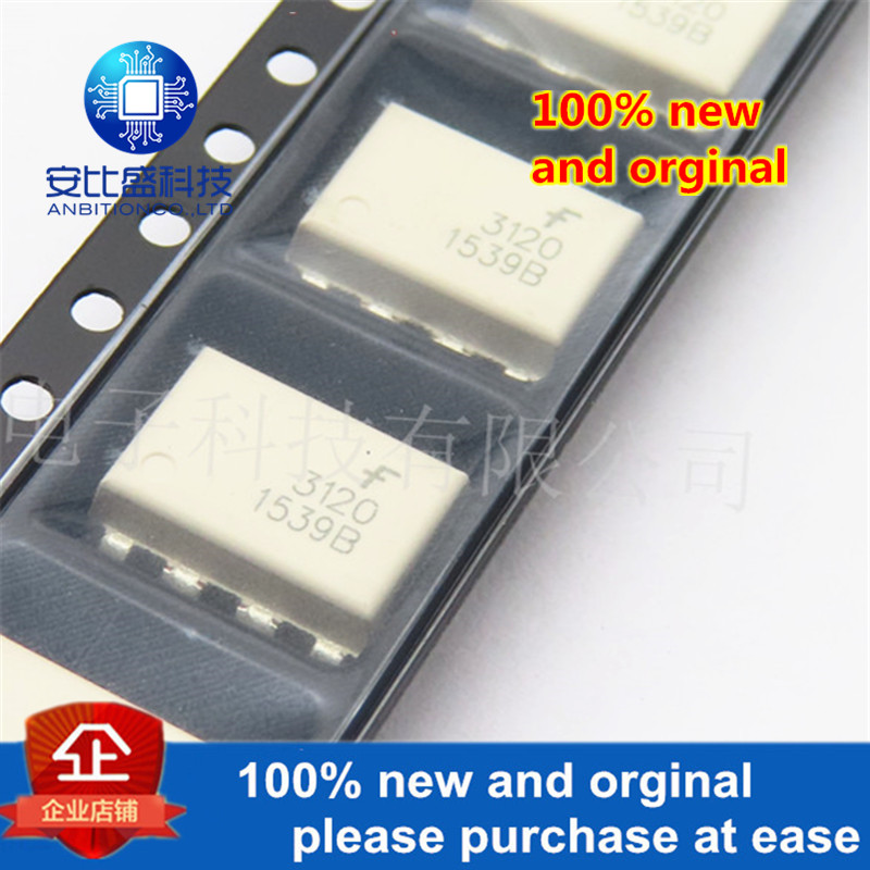 10pcs 100% New And Orginal FOD3120 FOD3120SD 3120 High Noise Immunity, 2.5A Output Current, Gate Drive Optocoupler In Stock
