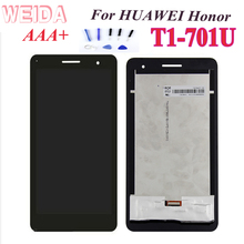 цены AAA+For Huawei Honor Mediapad T1-701 T1 701U T1-701U T1-701W LCD Display Touch Screen Panel Digitizer Assembly