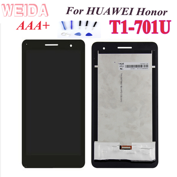 AAA+For Huawei Honor Mediapad T1-701 T1 701U T1-701U T1-701W LCD Display Touch Screen Panel Digitizer Assembly 8 inch for huawei mediapad t1 8 0 s8 701u lcd display touch screen digitizer sensor full assembly tablet pc replacement parts