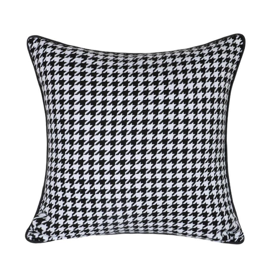 Modern Black White Houndstooth Woven Jacquard Home Throw Cushion Cover Decorative Square Pillow Case 45 X 45 Cm Sell By Pieces Cushion Cover Aliexpress