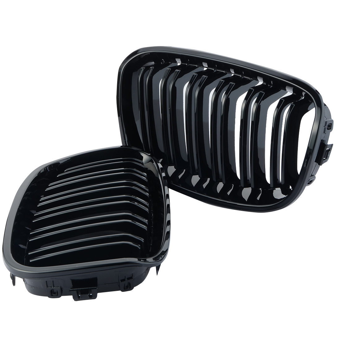 1 Pair Auto Stile di Una Coppia Anteriore Gloss Black Racing Griglie Per BMW F20 2011-2014 Vendita Calda