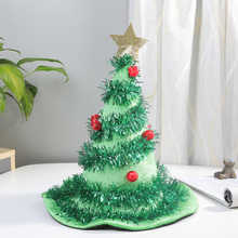 Sombrero de árbol de Navidad, diadema para disfraz de Papá Noel, fiesta de Navidad, adornos para vacaciones, tocados, 1 unidad