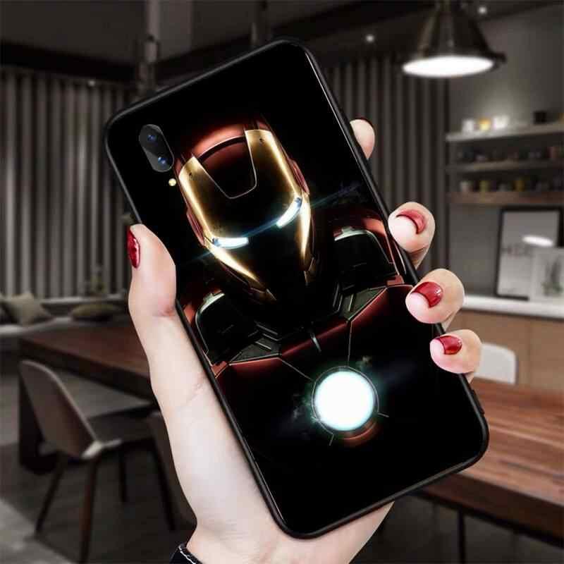 HPCHCJHM demir adam süper kahraman kapak telefon Vivo için kılıf Y91c Y17 Y51 Y67 Y55 Y93 Y81S Y19 V17 vivos5