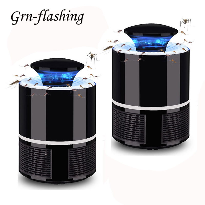 1 2 Pcs 5V USB Mosquito Killer Lamp Home Indoor Anti Insect Killer Bug Zapper Trap UV Light Electronic Mosquito Repellent Lamp