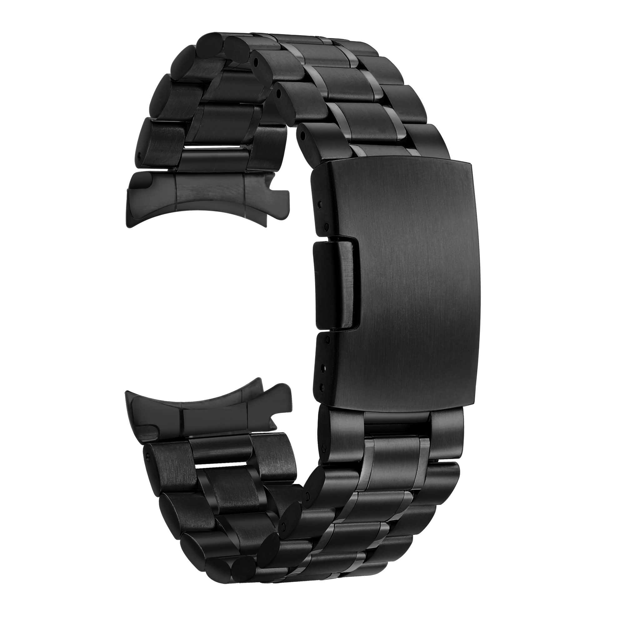 Per Samsung Galaxy 46 Gear S3 Classico Frontier Watch Band 22 millimetri In Acciaio Inox Cinturino Da Polso 20 millimetri Braccialetto In Argento A Sgancio rapido