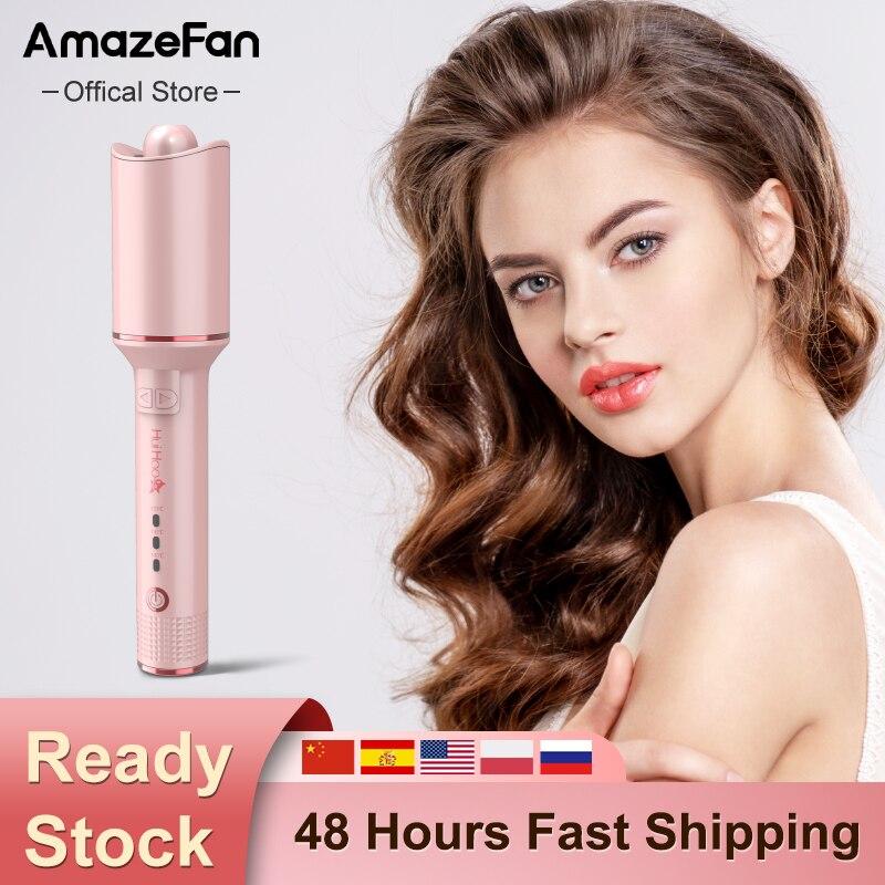 Автоматический щипцы для завивки волос AmazeFan, профессиональная плойка с керамическими кудрями, инструменты для укладки