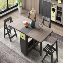 Dining-Table Furniture Folding Multifunctional Rectangle with 4-Chairs Masasi Yemek Fashion