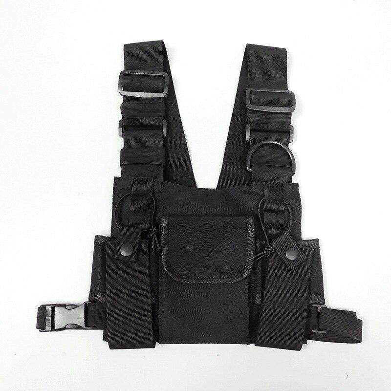 Women Tactical Shoulder Bags Chest Rig Bag Hip Hop Streetwear Men Functional Waist Packs Adjustable Pockets Waistcoat Kanye West
