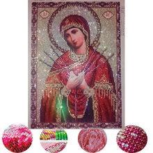 2018 novo CRISTAL DE diamante bordado Religioso mary imagens Strass do ponto da cruz pintura diamante mosaico bordado de pérolas para o presente