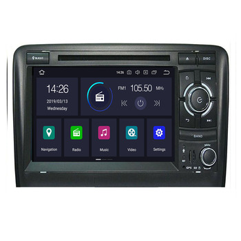 IPS DSP 4GB 2din Android 10 Car Radio DVD Player For Audi A3 8P S3 2003-2012 RS3 Sportback Multimedia Navigation stereohead unit image