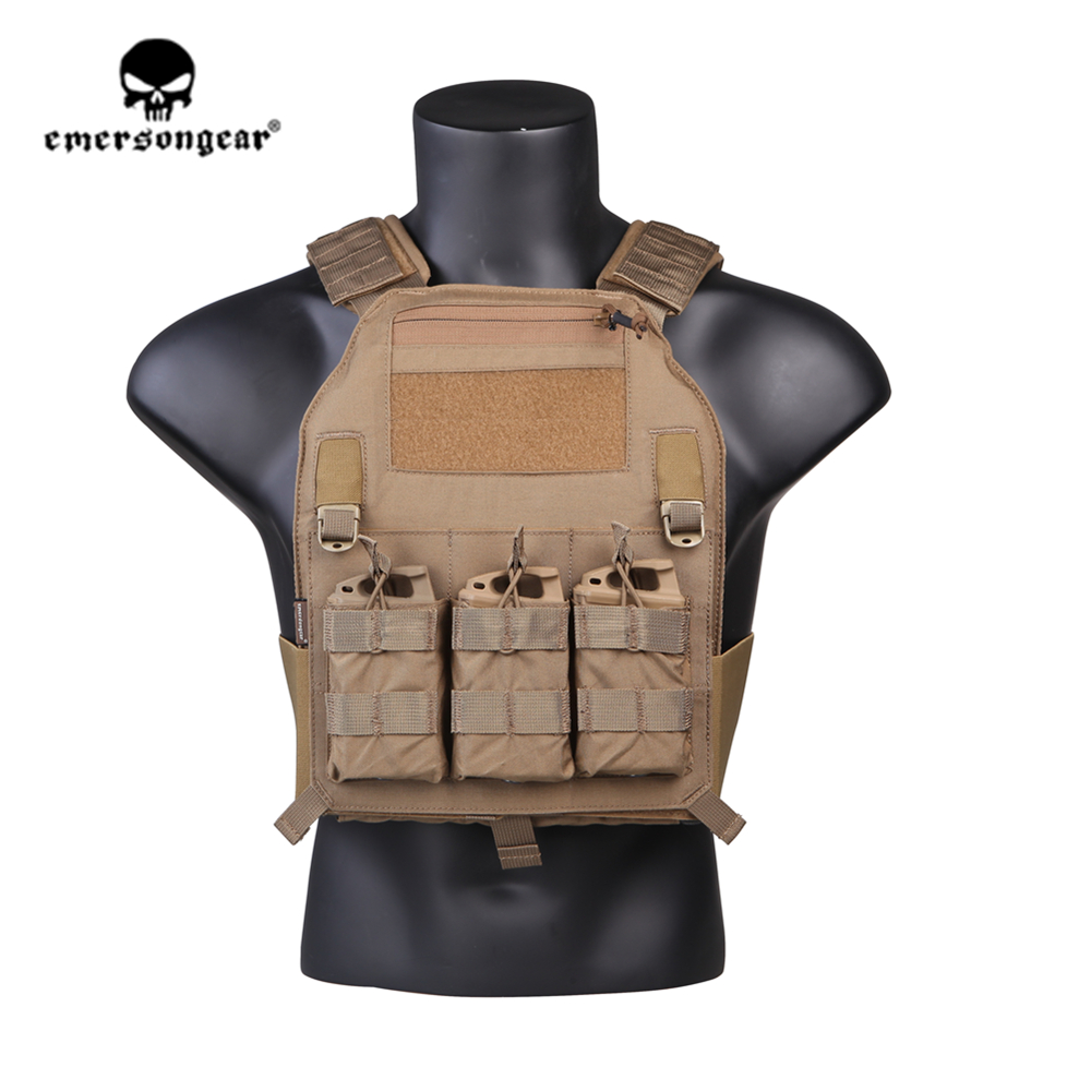 emersongear Emerson 419 Tactical Vest Plate Carrier Body Armor Breathable Adjustable Airsoft Paintball CS Protective Gear
