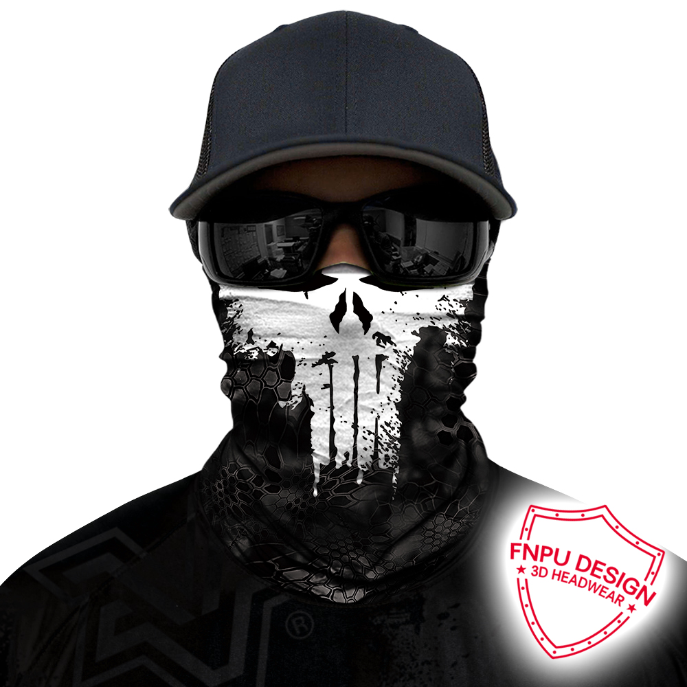 3D Seamless Bandanas Punisher Neck Buffs Motorcycle Cycling Marvel Face Mask The Avengers 4 UV Headband Hiking Scarf Face Shield