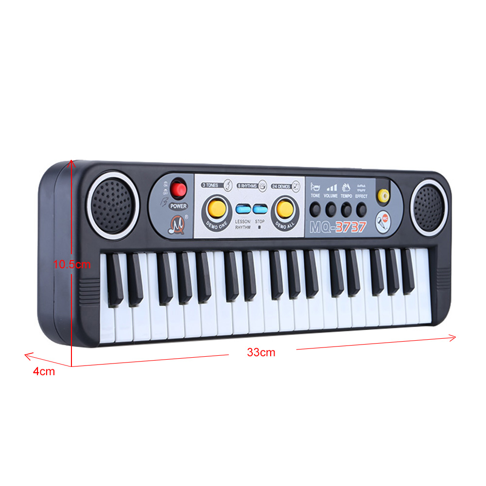 37 Keys Electronic Organ Toys Digital Piano Keyboard With Microphone Kids Montessori Music Educational Toys For Children Gifts