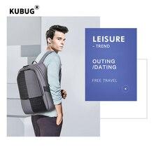 KUBUG Splashproof USB Charging Laptop Backpack Anti Theft Men Travel Teenage bag male bagpack mochila