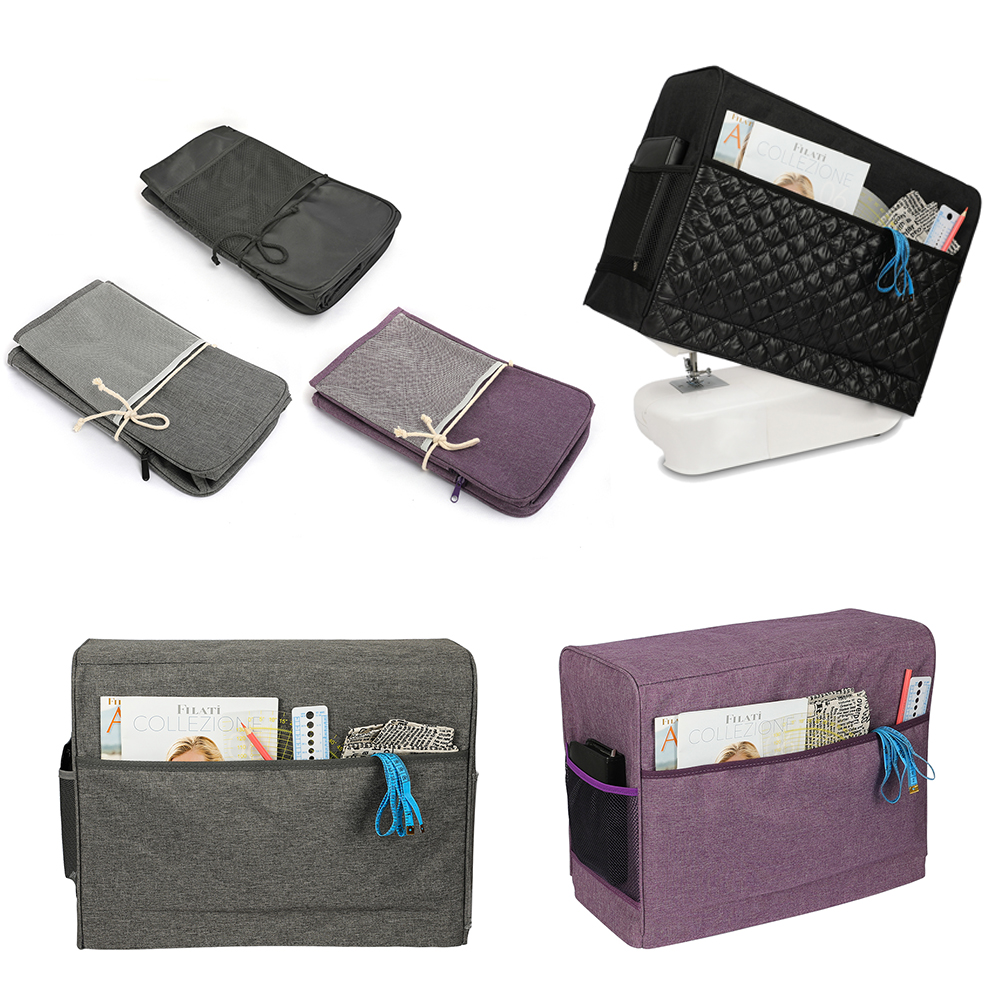 Portable Dustproof Sewing Machine Cover With 3 Pockets Waterproof Sewing Machine Storage Bag Accessories Dust Protective Cover