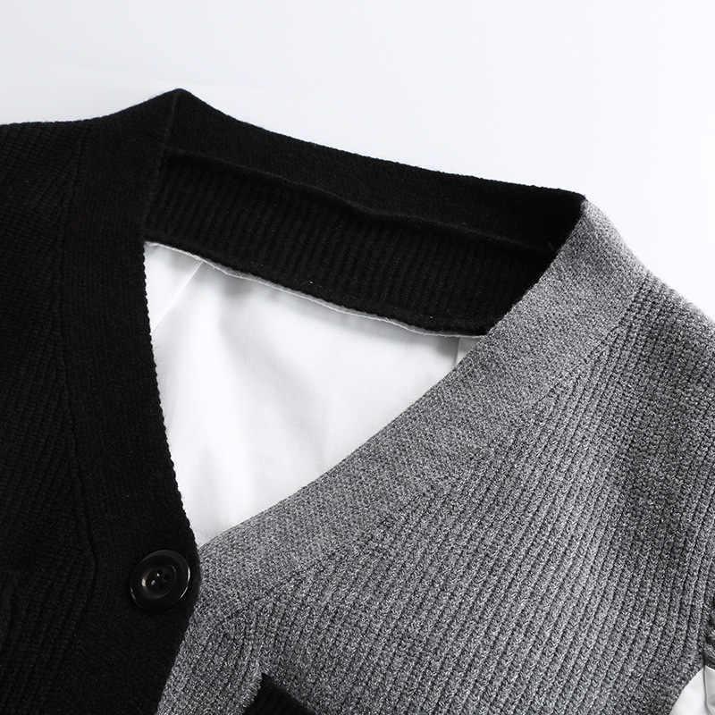 Primavera blusa feminina blusas mujer de moda 2019 coreano remendo trabalho de malha mais tamanho longo blusas moda senhoras camisa 10267