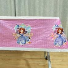 108*180cm Tablecloth Princess Sofia Birthday Party Supplies Baby Shower Cartoon Theme Kids Favors Table Cloth Decorations Sophia