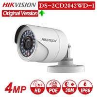 DS-2CD2042WD-I inglês versão 4mp ir bala câmera ip com poe câmera de rede câmeras de segurança vigilância