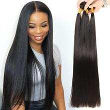 10-30 inch Alibele Peruvian Straight Hair Bundles 100 Human Hair Weave 1 3 4 Bundles Natural Color Straight Human Hair Extension
