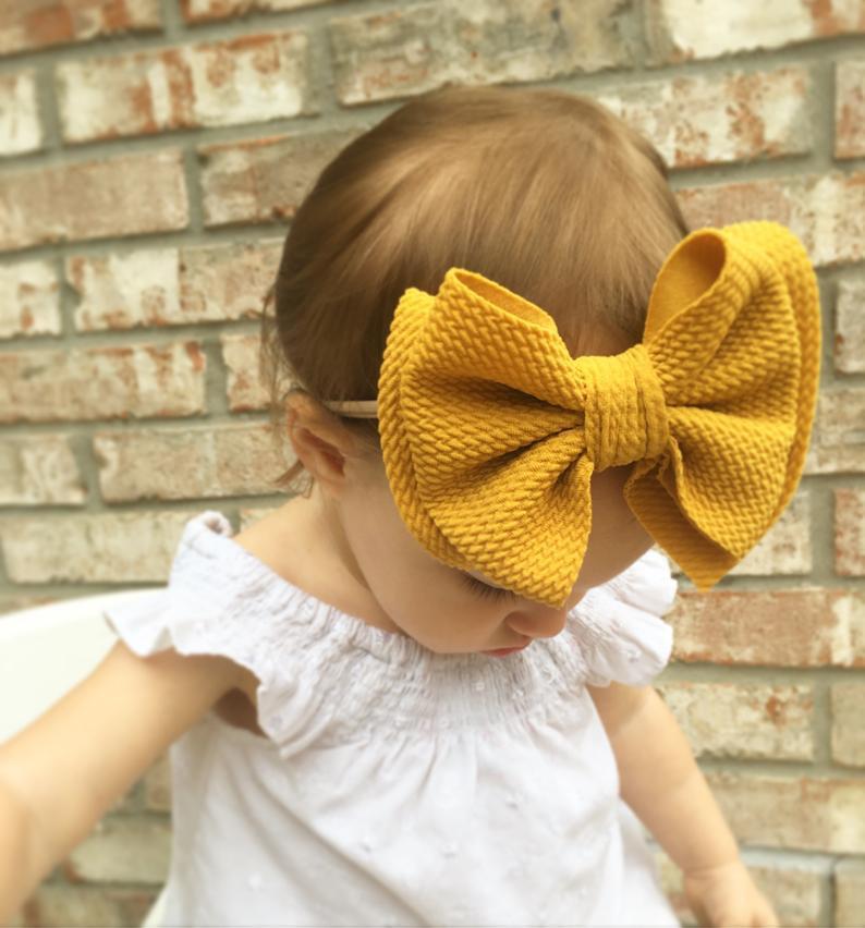 Baby Bows Headband Nylon Baby Headband Baby Girl Headbands For Girls Turban Baby Haarbandjes Hair Accessories Bandeau Bebe Fille