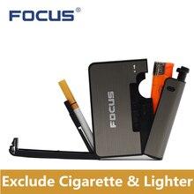 Gadget Cigarette-Box-Holder Metal-Case Durable Smoking-Accessories Man Gift Windproof