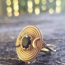Новинка 2020 женское модное кольцо с золотым покрытием и голубым