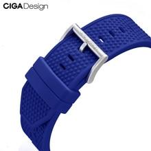 Siliconen Band Mens Automatische Mechanische Horloge Horloges Band Vervanging Armband Voor Ciga Z Mijn Serie Horloges Horloge