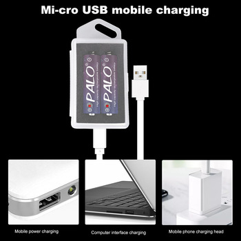 цена на 1.5v li-ion AA rechargeable battery 2800mwh lithium ion AA 2A batteries and USB battery box charger
