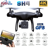 2020 New GPS Drone SH4 Camera HD 4K 1080P 5G Wifi FPV Professional Quadcopter RC Dron Helicopter Toys For Kids VS SG907
