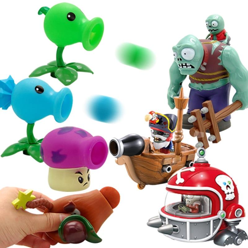 Plants vs Zombie Toys Full Set of Soft Ejection Boys vs ...