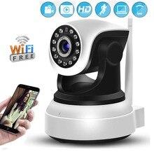 Câmera de vigilância interna hd 1080p, filmadora sem fio para vigilância interna e com áudio p2p, visão noturna monitor do bebê camhi app