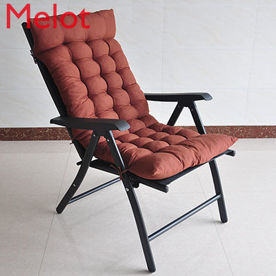 Recliner Lazy Folding Chair with Cotton Pad Home Computer Chairs  Office Durable Lunch Break Bed Camping Chair