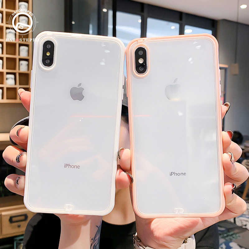 For iPhone 8 7 Plus 6 6S Soft Silicone Shockproof Bumper Phone Case For iPhone X XS 6 6S 7 8 Plus Transparent Cover case