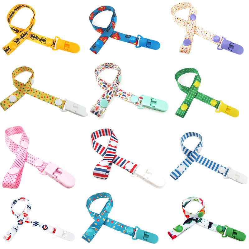 Adjust Baby Pacifier Clip Chain Ribbon Dummy Holder Chupetas Soother Pacifier Clips Leash Strap Nipple Holder For Infant Feeding